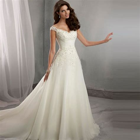 Buy Vintage Wedding Dresses V Neck