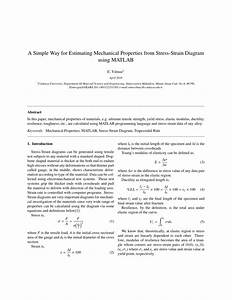 Pdf  A Simple Way For Estimating Mechanical Properties