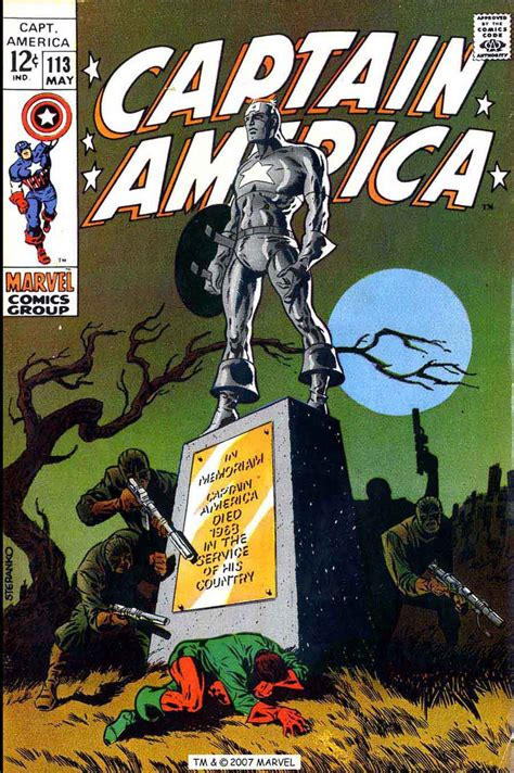 captain america 113 jim steranko art cover pencil ink