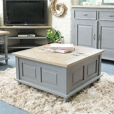 Storage Trunk Coffee Table Grey Or Antique White In 2019