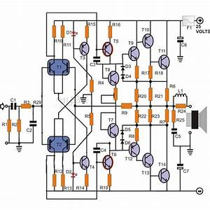 100w Transistor Power Amplifier Schematic  Learn How To