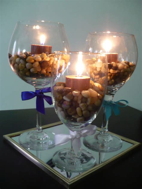 table centerpieces using photos wine glass centerpieces rooted in love