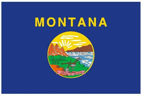 montana state colors montana vinyl state flag decal sticker made in the usa