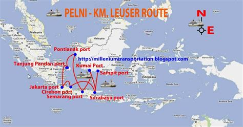 Ship Route by Indonesian Transport Pelni Ship Route Map