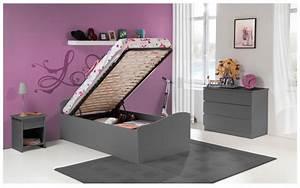 Lit D Enfant Avec Barrière : lit enfant 90x190 blanc avec barri res de s curit ~ Premium-room.com Idées de Décoration