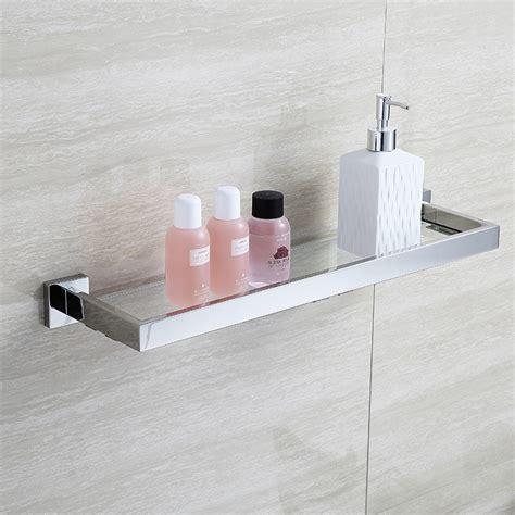 Glass Wall Shelves For Bathroom by Blhtz05 Glass Bathroom Shelves Shoo Holder Stainless