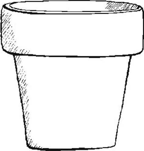 Coloring Page Flower Pot by Garden Flower Pot Coloring Pages
