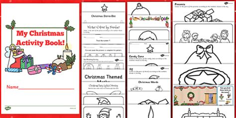 christmas activity forwork activity book activity book