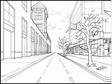 Drawing Perspective Point Coloring Sketch Points sketch template
