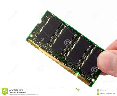 Computer Ram Memory Cards Isolated On White Backgr Stock