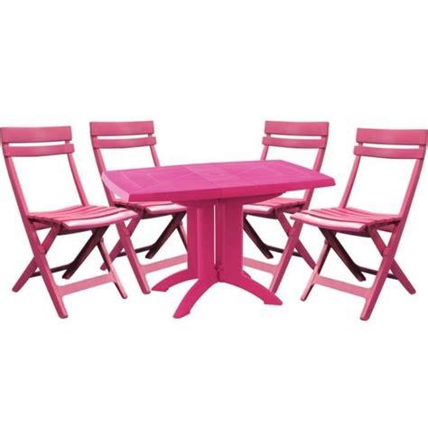 chaise de jardin grosfillex salon de jardin grosfillex fuchsia 1 tabl achat
