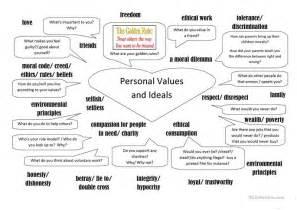 Identifying Verbs Worksheet Personal Values And Ideals Worksheet Free Esl Printable Worksheets Made By Teachers
