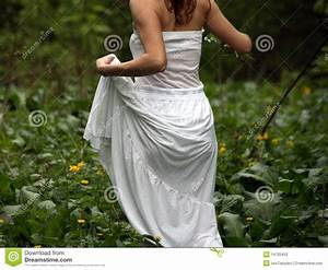 Woman Running In Green Field Stock Photos - Image: 14720453