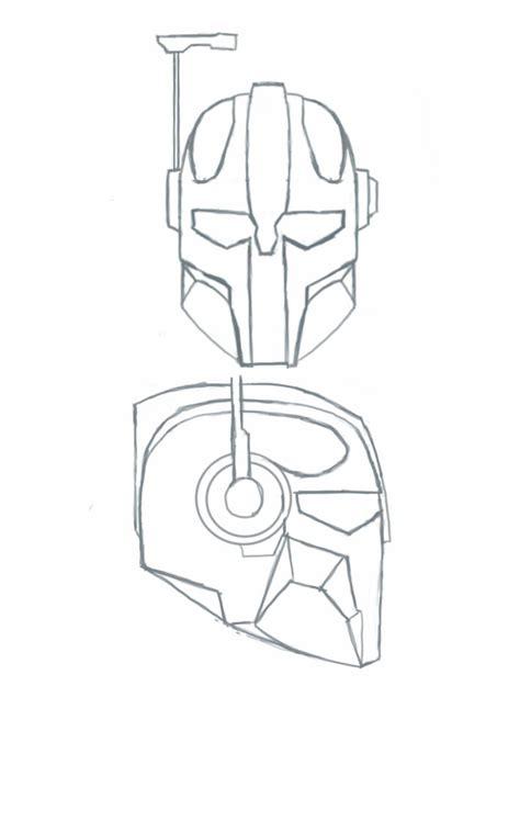 mandalorian armor template mandalorian coloring pages