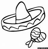 Sombrero Coloring Mayo Cinco Spanish Printable Hat Mexican Clip Clipart Fiesta Class Maracas Template Hats Crafts Sheet Props Preschool Inspiredbyfamilymag sketch template