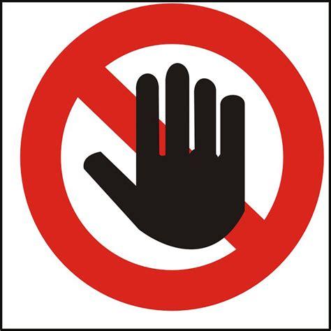 Divieto Di Ingresso - targa adesiva di informazione quot divieto di accesso quot in
