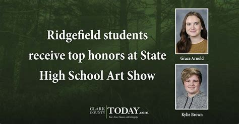ridgefield students receive top honors state high school art show