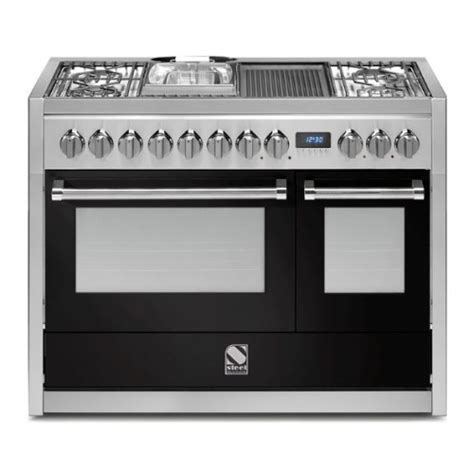 piano cuisine electrique piano de cuisson steel genesi 120 cm 2 fours g12sf 6t dcharby