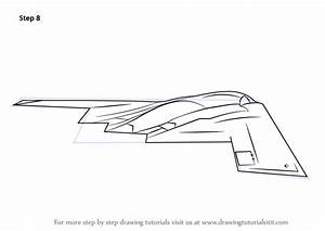 Learn How To Draw Stealth Bomber  Military  Step By Step