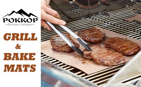 Grill Cooking Mats - pokkop copper grill mat set of 3 non stick
