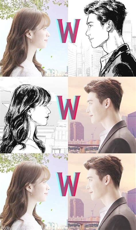 gambar anime drama w 83 best w two worlds images on korean dramas