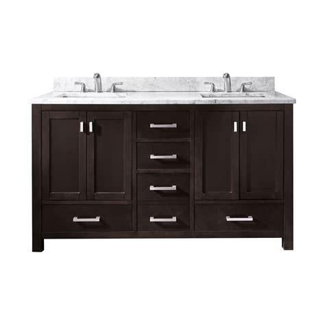 60 bathroom vanity double sink lowes avanity modero v60 modero 60 in double sink bathroom