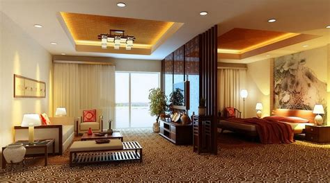 Fully Carpeted Master Bedroom Cum Living Room 3d Model Max