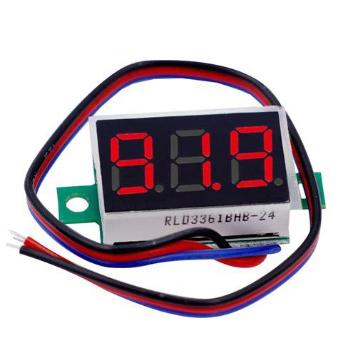 0 36 quot digital voltmeter dc 0 200v 3 digit voltage panel meter lcd display for electromobile