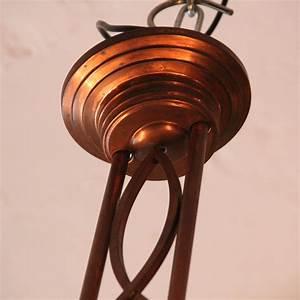 Art Deco Deckenleuchte : 02533 art deco deckenlampe aus kupfer wandel antik ~ Sanjose-hotels-ca.com Haus und Dekorationen