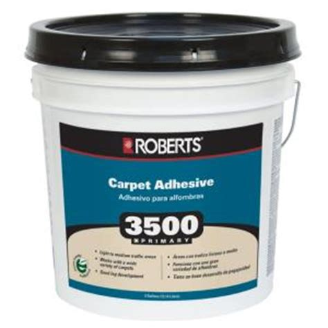 home depot flooring adhesive roberts 3500 4 gal primary carpet glue adhesive 3500 4 the home depot