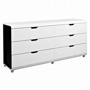 Commode 6 Tiroirs Conforama : graphique chic 20 meubles et accessoires d co noir et blanc commode 6 tiroirs boxi ~ Teatrodelosmanantiales.com Idées de Décoration