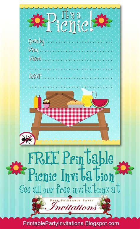 printable picnic invitation picnic invitations