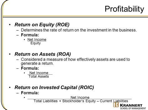 Financial Statement Analysis / Entrepreneurial Finance