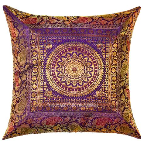 purple medallion circle decorative outdoor indoor silk
