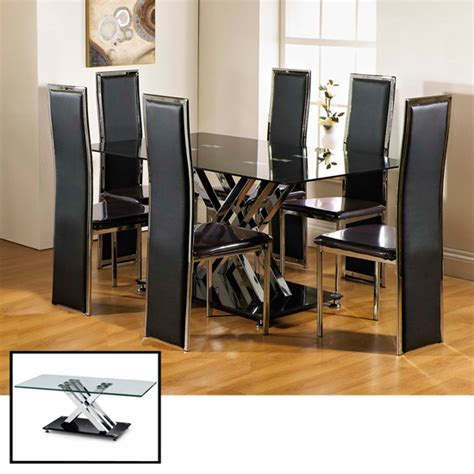 glass dining table and chairs clearance clearance excelsior rectangle glass dining table and 6