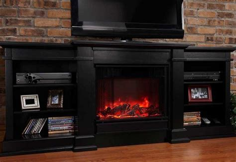 Rustic Style Family Room Decor with TV Stand Electric