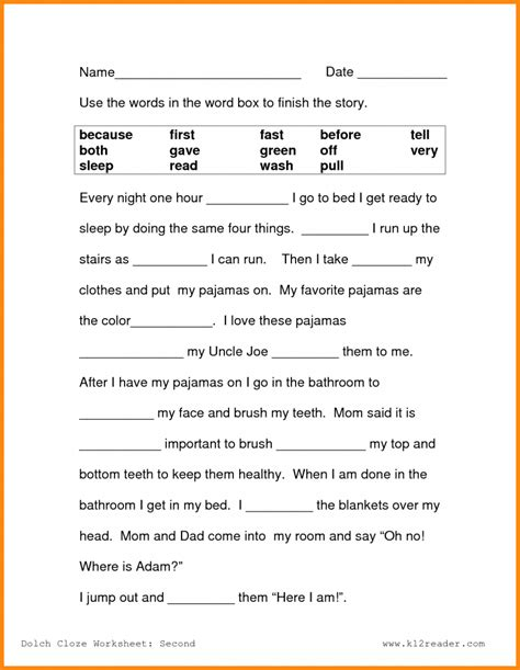 2nd grade reading comprehension worksheets pdf the best