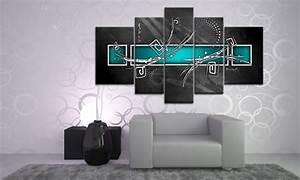 Deko Türkis Wohnzimmer : digital art t rkis leinwand 5 bilder wandbild m51499 die leinwandfabrik ~ Sanjose-hotels-ca.com Haus und Dekorationen