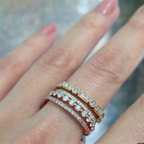 stackable wedding bands stackable wedding bands are one of our favorite jewelry trends photos