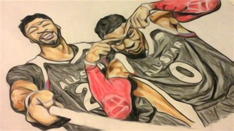 Anthony Davis And Russell Westbrook Drawing Youtube