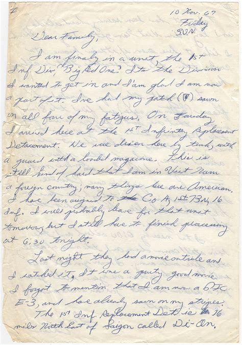 letters from vietnam letter he wrote during his