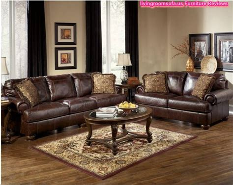 brown leather living room sectionals