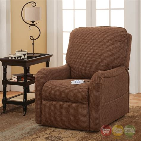 serta comfortlift essex brown wall hugger reclining lift