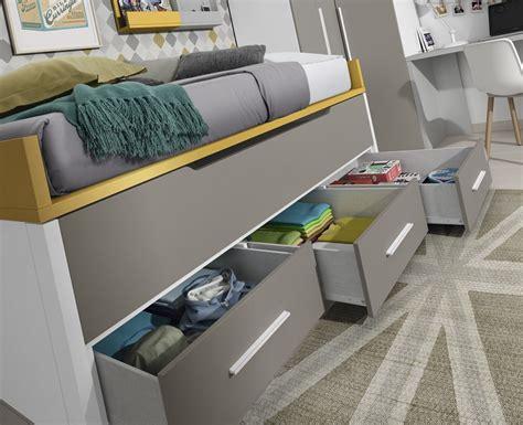 lit gigogne avec bureau chambre ado avec lit gigogne lit amovible meubles ros