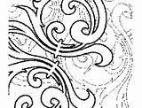 Coloring Curls Abstract Printable sketch template