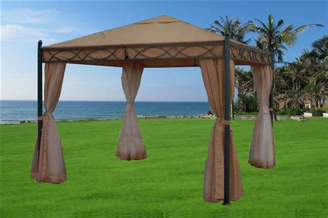 gazebo 10x10 10 x 10 beige gazebo canopy
