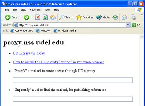 Using Ud's Web Proxy Server