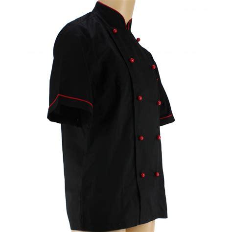 veste de cuisine noir veste de cuisine avec liseré pour homme lisavet