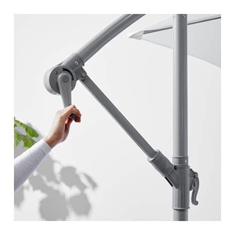 svart 214 bagg 214 n parasol hanging with base white grey