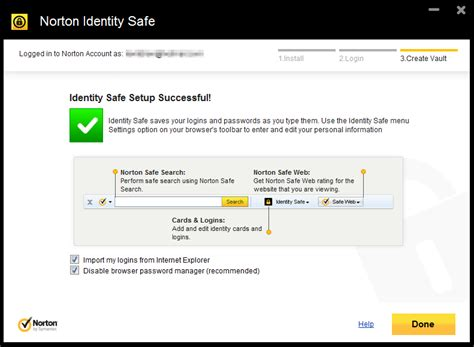 norton identity safe  cloud based password manager